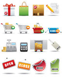konsumeryzmu ikony premii serie ustalony zakupy Zdjęcia Royalty Free