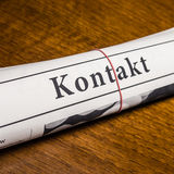 Kontak newspaper (german) Stock Photo