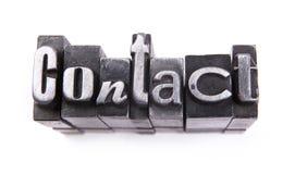 Kontakt lizenzfreies stockbild