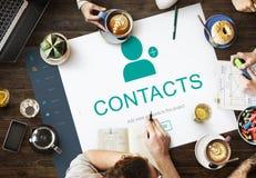 Kontakt-Adressbuch-Kommunikations-Informations-Konzept Stockbild