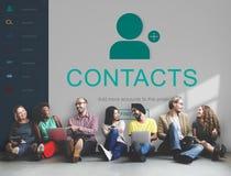 Kontakt-Adressbuch-Kommunikations-Informations-Konzept Lizenzfreie Stockfotografie
