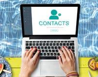Kontakt-Adressbuch-Kommunikations-Informations-Konzept Lizenzfreie Stockbilder