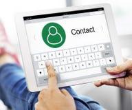Kontakt-Adressbuch-Kommunikations-Informations-Konzept Stockfotos