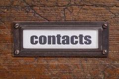 Kontakt etykietka - kartoteka gabineta etykietka obrazy royalty free