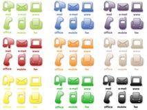 Kontakt-Ikonen Lizenzfreie Stockbilder