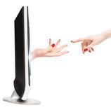 Kontakt mit Fernsehwirklichkeit Lizenzfreie Stockbilder