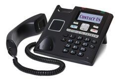 kontakt odizolowywający biura telefon my biały Fotografia Stock