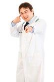 kontakt rozochocona lekarka gestykuluje ja medyczny seans fotografia royalty free