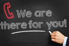 Kontakt - wir sind dort für Sie lizenzfreie stockbilder