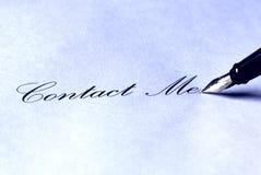 kontakta mig arkivbild