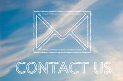 kontakta oss Royaltyfria Foton
