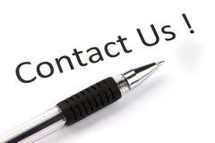 kontakta oss Arkivfoton
