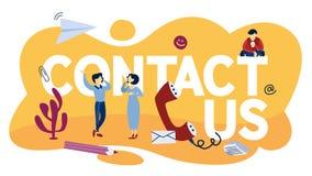 Kontakta oss begreppsillustrationen Kommunikation med kunder stock illustrationer