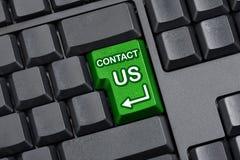 Kontakta oss det nyckel- tomma datortangentbordet Fotografering för Bildbyråer