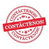 Kontakta oss - det spanska språket Royaltyfria Bilder