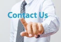 Kontakta oss internetbegreppet Arkivfoto