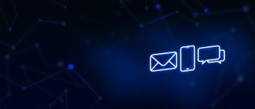 Kontakta oss, kontakten, emailkontakten, appellen, meddelandet, landningsidan, bakgrund, räkningssidan, symbol royaltyfri illustrationer