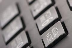 Kontakta oss och kundtjänstservice, ringa telefontangentbordsbegreppet för kommunikation royaltyfri bild
