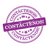 Kontakta oss! - Spanskt språk Royaltyfri Bild