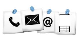 Kontakta oss symboler Arkivfoton