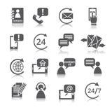 Kontakta oss tjänste- symboler royaltyfri illustrationer