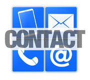 kontakta post phone oss Royaltyfri Fotografi