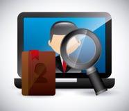 Kontaktchef app Arkivbild
