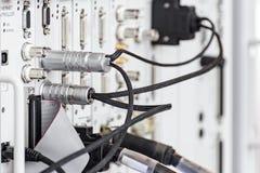Kontaktdon av högfrekvens- kabel Arkivfoto