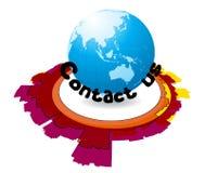kontakten jorda en kontakt oss vektor illustrationer