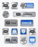 Kontakter/post-/e-postrengöringsdukelement Arkivfoto