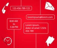 Kontaktformschablone für Website. lizenzfreie stockfotos