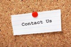 Kontaktieren Sie uns lizenzfreie stockfotos