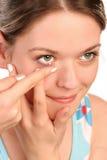 Kontaktlinse Lizenzfreies Stockfoto