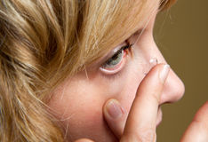 Kontaktlinsen Stockfotos