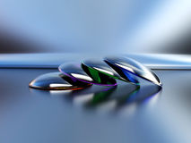 Kontaktlinsen (verschiedene Schatten) lizenzfreie abbildung