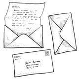 kontaktowa ilustracyjna listowa poczta Zdjęcia Royalty Free