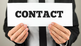 Kontaktowa karta obrazy stock