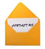 kontaktowa koperta my Obrazy Stock