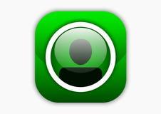 Kontaktowa mobilna ikona Obrazy Royalty Free