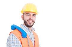 Kontaktowa osoba dla firmy budowlanej Zdjęcia Royalty Free