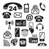 Kontaktowe ikony Zdjęcie Stock