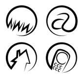Kontaktowe sieci ikony Ilustracja Wektor