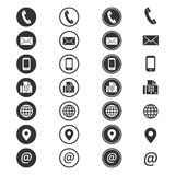 Kontaktowej informaci ikona ilustracji