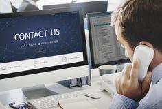 Kontaktowy Metrykalny informacje zwrotne poparcia pomocy pojęcie Zdjęcie Stock