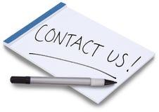 kontaktowy ręcznie pisany notepad my Zdjęcia Royalty Free