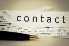Biznesowy kontakt obraz royalty free
