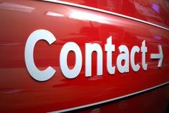 kontaktowy znak zdjęcie royalty free