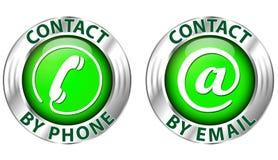 Kontaktsymbol Royaltyfri Fotografi
