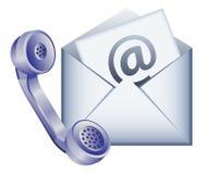 kontaktsymbol oss Arkivbild