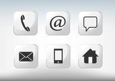 Kontaktsymboler Arkivfoto